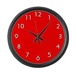 CafePress - Large Red Wall Clock - Large 17 Round Wall Clock, Unique Decorative Clock