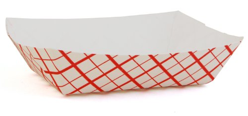 Southern Champion Tray 0405 #40 Southland Paperboard Red Check Food Tray, 6 oz Capacity