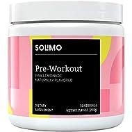 Amazon Brand - Solimo Pre Workout Powder, Pink Lemonade, 7.41 Ounce (30 Servings