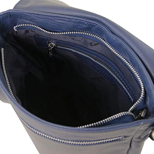 Cesare Tuscany TL141723 en Azul Azul Suave Bandolera con Oscuro Bolso Piel Oscuro Leather qZrZwRHp5O