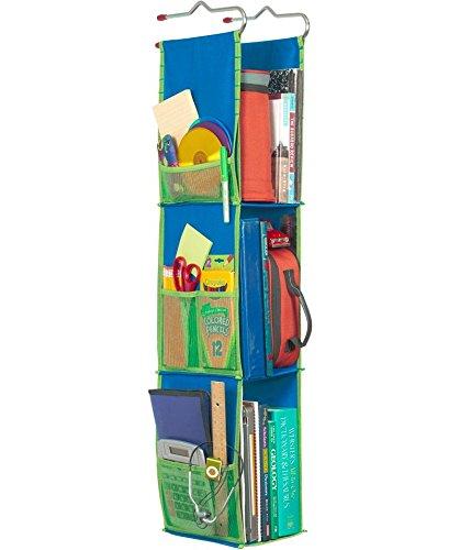 K&A Company Hanging Locker Organizer - Blue, 20''-38'' x 9'' x 4 lbs
