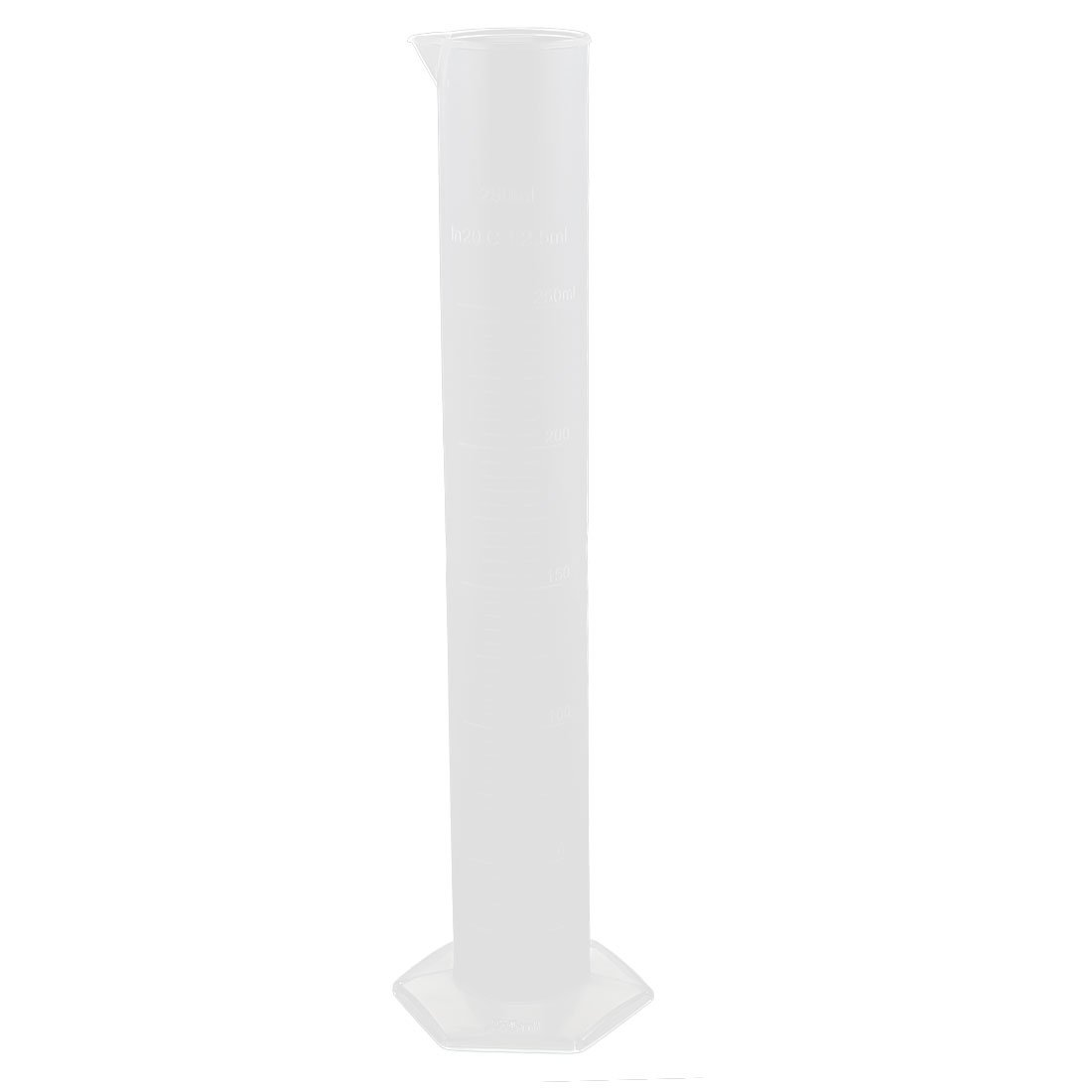 uxcell 250mL Clear Plastic Liquid Lab Measuring Tool Graduated Cylinder by uxcell