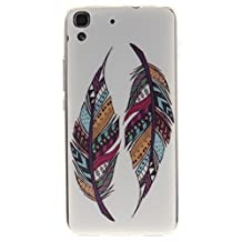 """Huawei Y6 Case, SsHhUu Hipster Colorful Tribal Feather Design Ultra Slim Soft TPU Flexible Durable Gel Silicone Protective Rear Skin Cover for Huawei Honor 4A Huawei Y6 5.0"""""""