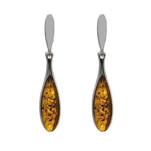 Honey-Amber-Sterling-Silver-Rain-Drop-Earrings