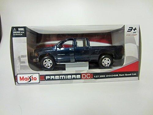 (Maisto Premiere DC 1:27 2002 Dodge Ram Quad Cab Metallic Blue)