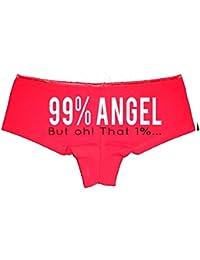 99% Angel But Oh! That 1%. Booty Shorts Boyshort Cotton Bikini Bottom Sexy Panties