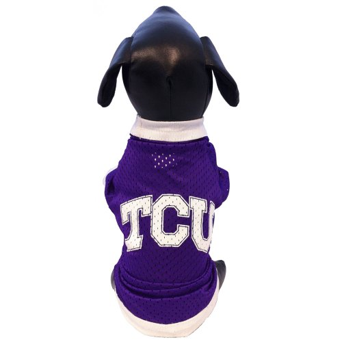 NCAA TCU Horned Frogs Athletic Mesh Dog Jersey (Team Color, Small)