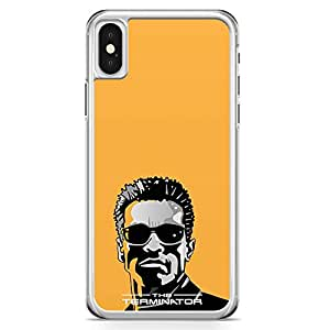 Loud Universe Classical Movie Retro style iPhone X Case Arnold iPhone X Cover with Transparent Edges