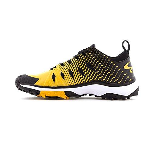 Boombah Mens Squadron Turf Shoes - 20 Opzioni Di Colore - Più Dimensioni Nero / Oro