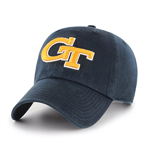 Ladies Washed Twill Cap - OTS NCAA Adult Women's Challenger Adjustable Hat Georgia Tech, One Size, Navy