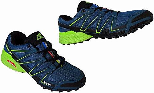 Herren Laufschuhe Sportschuhe Turnschuhe Sneaker Schuhe Gr.41 - 46 Art.-Nr.1998 d.blau-grün