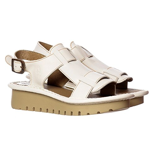 Fly London Womens Kani Öppen Tå Sandal Off White
