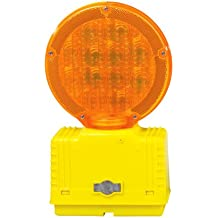Cortina 03-10-3WAY6V Polycarbonate Incandescent Barricade Light with Photocell, 6 VDC, Amber