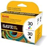 Kodak 30B/ 30CL Ink Cartridge Combo Pack - Black & Colour (335/ 390 Pages)