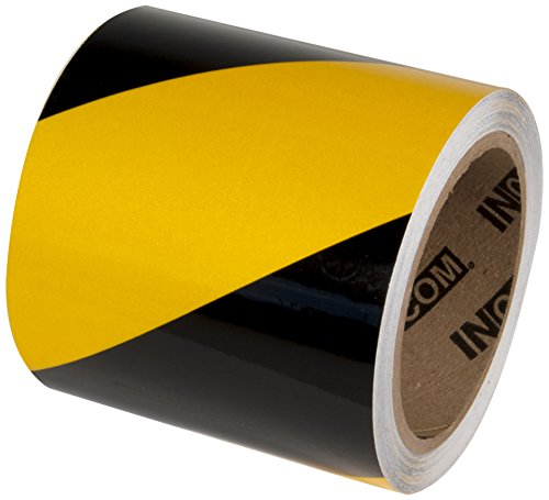 Incom Manufacturing: Engineer Grade Reflective Safety Tape, 4 x 30, Yellow/Black