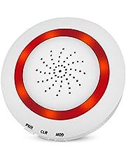 Smart Life WiFi Tuya Draadloze DIY Sirene Alarm, Geluid en Licht Sensor, Beveiliging Alert Systeem voor Thuis Appartement Business Office, Bescherm Indoor Property, Ondersteuning Alexa