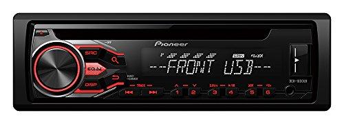 Pioneer DEH-1800UB CD-Tuner mit RDS, USB und AUX-Eingang für FLAC-Dateien (1-DIN) schwarz