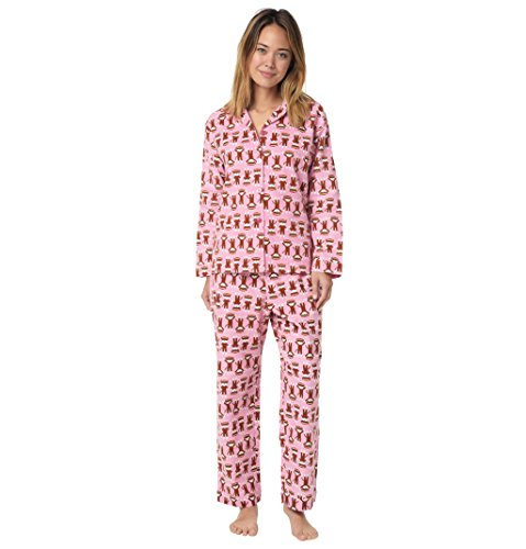 Monkey Trouble Flannel Pajama Pink