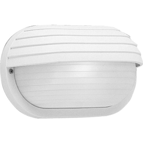 Progress Lighting P5706-30 Polycarbonate Light Mounted On Walls Only Indoors or Outdoors with No Color Fade, White (Wall Lighting Plastic)