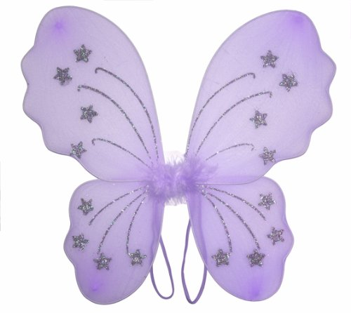 Purple Star Butterfly Wings Dress Up Fairy Girl Birthday Party Halloween (Dragonfly Costume Toddler)