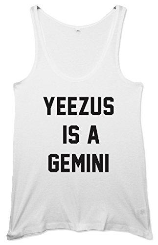 Yeezus vestido para disfraz estilo años sudadera con capucha para mujer es un chaleco para de Géminis blanco