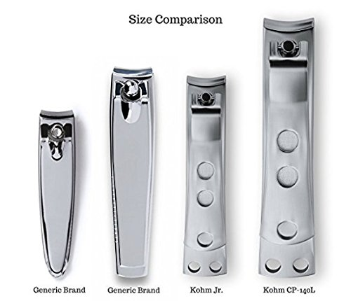 Kohm CP-140L Toenail Clipper for Thick Nails, 4mm Wide Jaw Opening, Curved Blades, Stainless Steel by Kohm (Image #5)