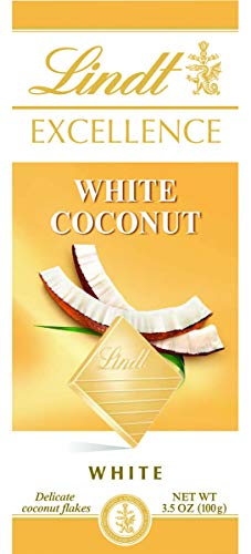 - Lindt White Chocolate and Coconut Excellence Bar, 3.5 Ounce (Pack of 12)