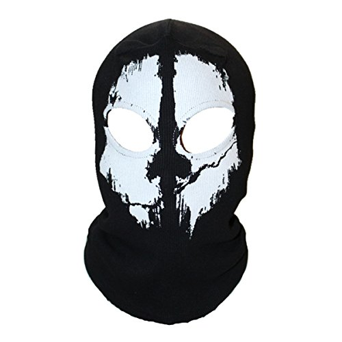 Unisex Ghost Skull Full Face Balaclava Masks Warmly Motorcycles Mask Hood Beanie Halloween Cosplay (Call Of Duty Ghosts Halloween Costumes)