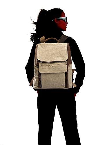 Linshi Tasks Neu Herren Vintage Canvas Rucksack Tasche f¨¹r Schule Freizeit Sports