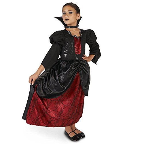 Little Vampire Queen Child Costume M (8-10) (Regal Vampira Girl Costume)
