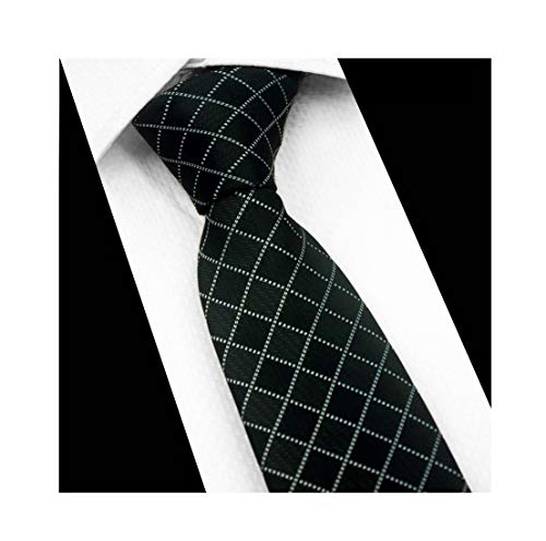 Black Diamond Check Silk Ties Formal Dress Necktie Decent Holiday Gifts for Mens ()