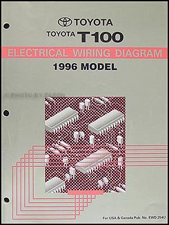 1996 toyota t100 truck wiring diagram manual original toyota rh amazon com