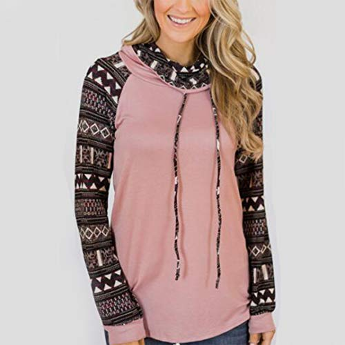 Amazon.com  Respctful (○˙▾˙○) Women s Tops Long Sleeve Pullover Geometric  Print Block T-Shirt Cowl Neck Blouse Casual Pullover  Clothing 5785c69f2