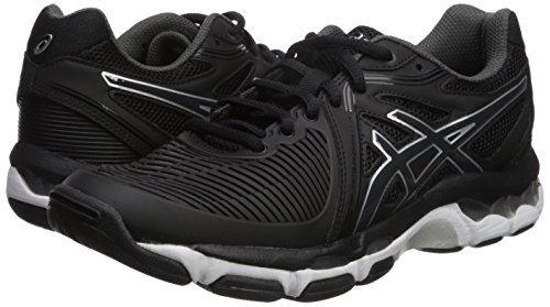 ASICS Women's Gel-Netburner Ballistic Volleyball Shoe, Black/Dark Grey/White, 9 Medium US by ASICS (Image #6)