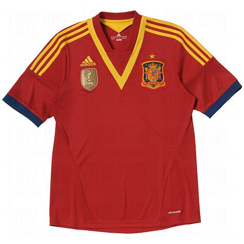 adidas Spain 2013/2014 Youth Home Jersey (X-Large)