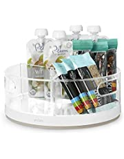 YouCopia Crazy Susan Kitchen Cabinet Turntable and Snack Organizer with Bins