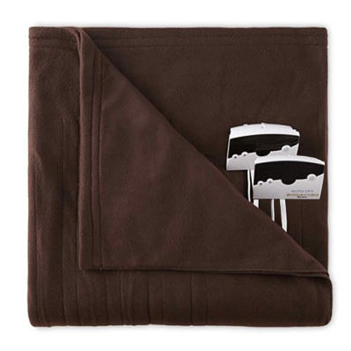 Overstock Biddeford 1004-9052106-711 Fleece Electric Heated Blanket King Chocolate