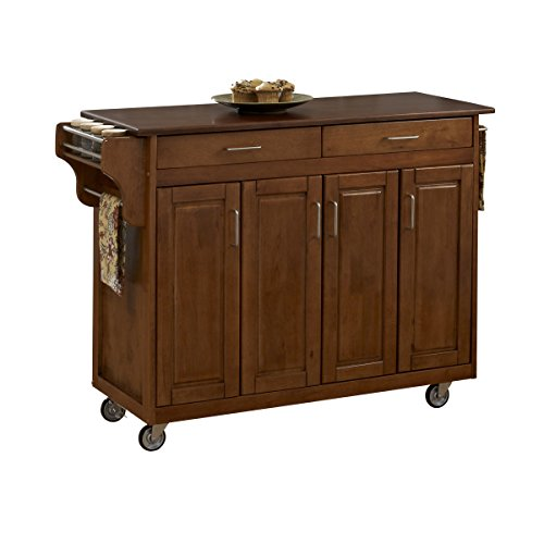 - Create-a-Cart Warm Oak Finish with Cherry Top by Home Styles