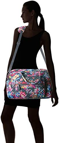 Vera Bradley Signature Cotton Compact Weekender Travel Bag, Pretty Posies