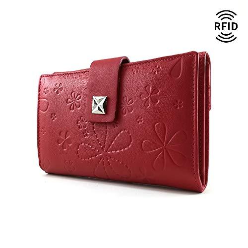 Monedero Mujer, RFID, Cartera Mujer, Hecho España, Casanova, Hecha en Piel de Vaca, Ref. 27616 Rojo: Amazon.es: Handmade