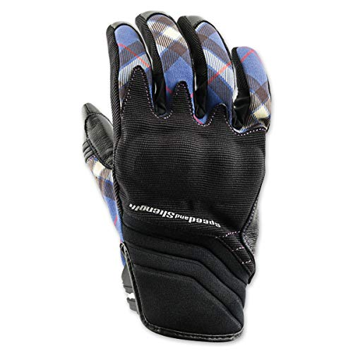 Speed and Strength Women's Cross My Heart Street Racing Motorcycle Gloves - Purple/X-Large
