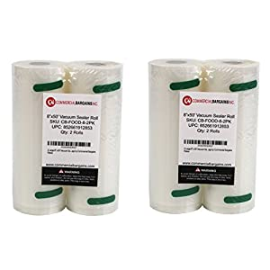 "Commercial Bargains 4 Large 8"" x 50' Vacuum Saver Rolls"