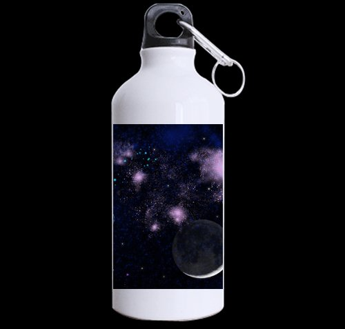 Flipped Summer Planet Universe Solar System Star Galaxy Customized Sports Water Bottle Art Printing Travel Cup Twin Sides