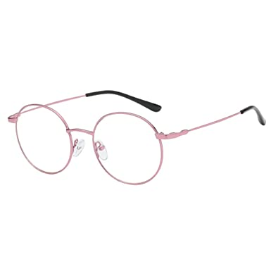 964949402eb80 2019 New Hot Unisex Fashion Round Clear Lens Glasses Vintage Geek Nerd  Retro Style Metal Fram