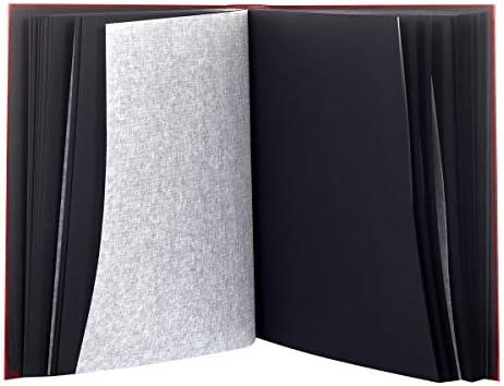 LC DISTRIBUTION Lot de 2 Albums Photo Traditionnel /à Coller Bleu 400 Photos Pages Noires