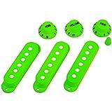 WINOMO Strat Guitar Pickup Covers Knobs Switch Tip Set Green