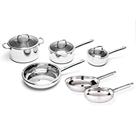 10-Pc Stainless Steel Cookware Set