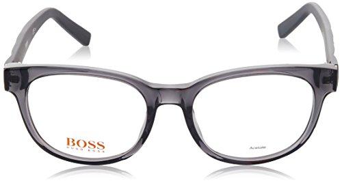 Boss Orange - BO 0237, Oeil de chat, acétate, femme, TRANSPARENT GREY MATTE BLACK(LEU), 51/18/140