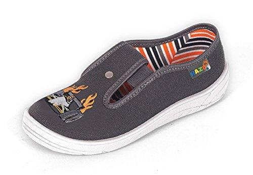 Nazo - Zapatillas de estar por casa para niño Gris - gris/blanco