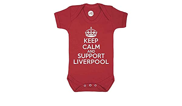 Keep Calm and Support Liverpool bebé Chaleco Blanco Blanco 3-6 Meses: Amazon.es: Ropa y accesorios